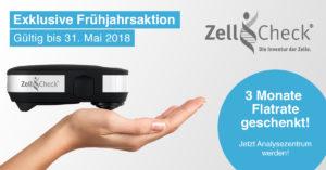 Zell-Check Frühjahrsaktion 2018